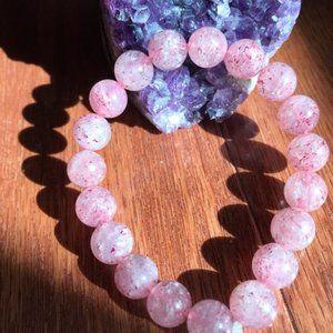 Pink Natural Quartz Bracelet